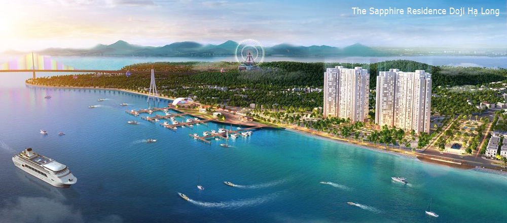 Dự án căn hộ chung cư doji Hạ Long Quảng Ninh nhìn từ xa tuyệt đẹp