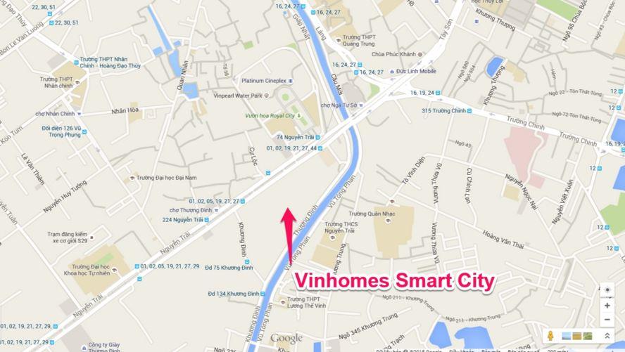 Vị trí trung tâm sẩm uất nhất nhì tại thủ đô Hà Nội
