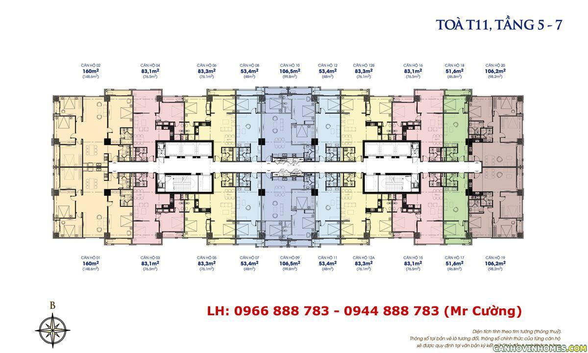 Mặt bằng chung cư times city t11, Căn hộ times city tòa T11