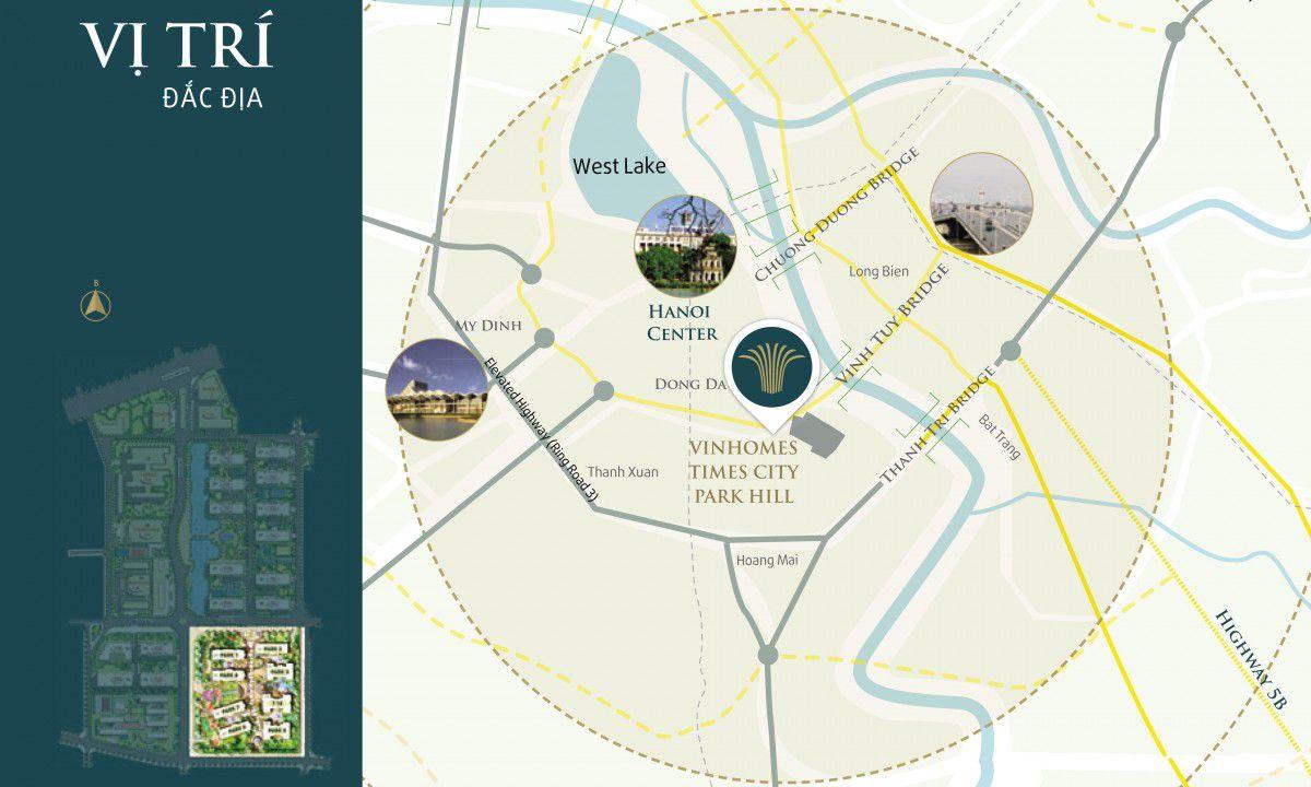 Sơ đồ tổng thể Vinhomes Times City Park Hill, Tổng quan Vinhome Time city – Park Hill